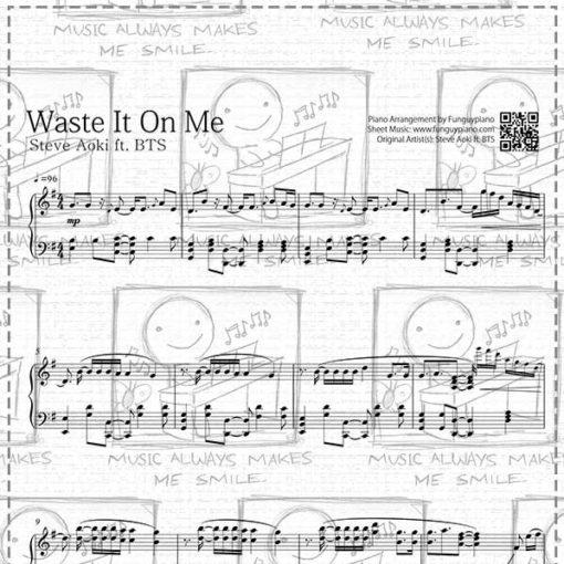 Steve Aoki Ft Bts Waste It On Me Sheet Music Midi Mp3