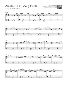 BTS - Waste It On Me | Free Piano Sheet | Funguypiano