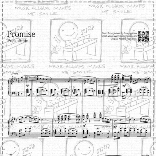 BTS Jimin - Promise [ Sheet Music / Midi / Mp3 ]