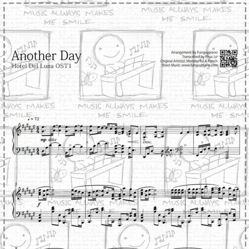 Hotel Del Luna OST1 - Another Day [ Sheet Music / Midi / Mp3 ]