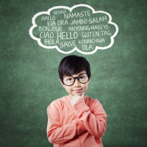 Child Thinking Hello In Multiple Languages