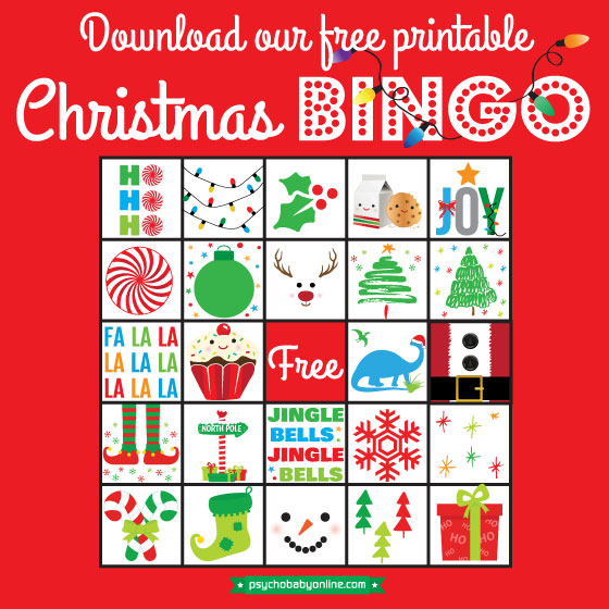 image relating to Free Printable Christmas Bingo Cards titled Free of charge Xmas Printable: Holly Jolly Bingo Playing cards Contentment Chaos