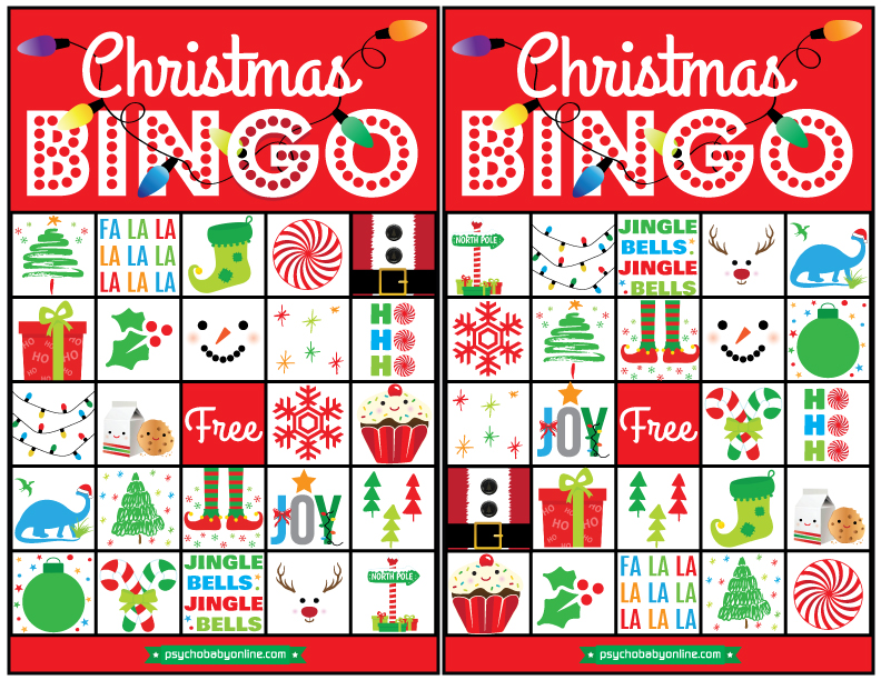 picture relating to Free Christmas Bingo Cards Printable called No cost Xmas Printable: Holly Jolly Bingo Playing cards Pleasure Chaos