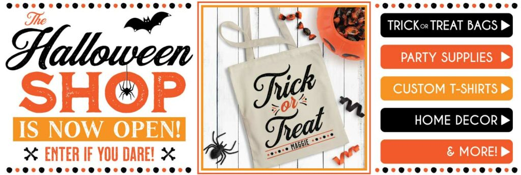 Custom Halloween Gifts, Party Favors & Trick or Treat Tote Bags