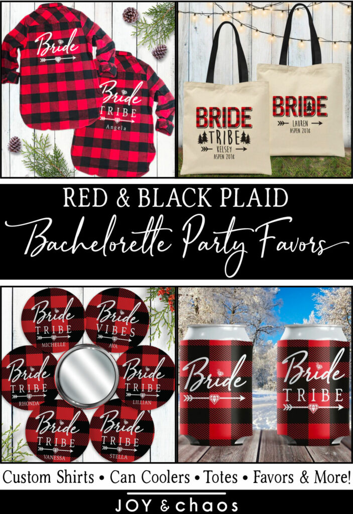 Custom Plaid Flannel Fling Bachelorette Party Favors