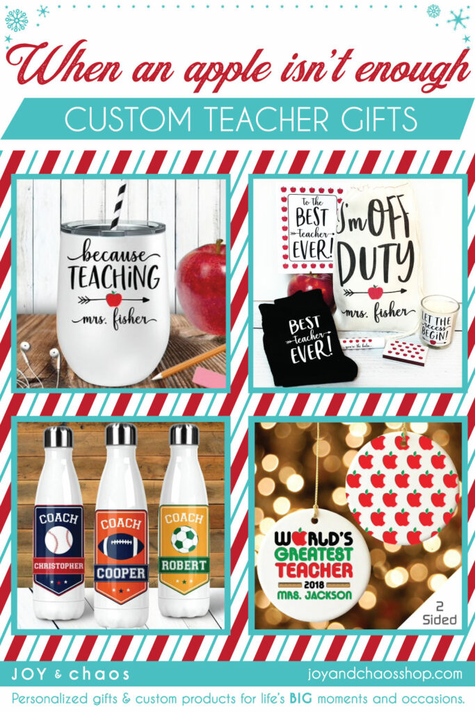 Custom Christmas Teacher Gifts under $20