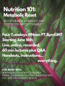 Nutrition 101 Metobolic Reset