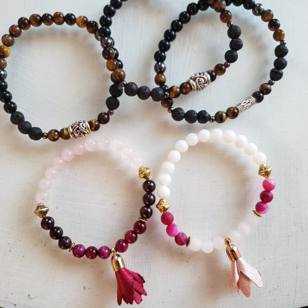 Bracelet en pierres semi-précieuses