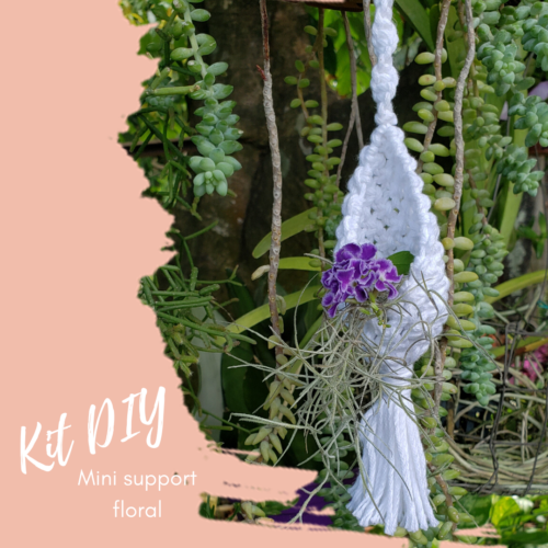 kit DIY - support floral en macramé