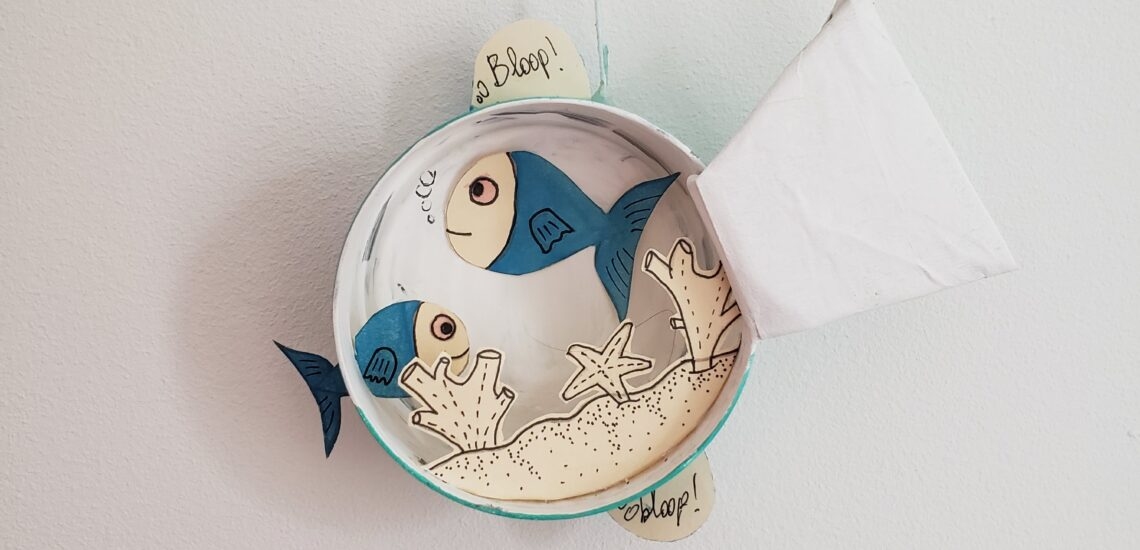 DIY aquarium poisson d'avril