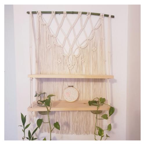 étagère boho en macramé Papangue atelier créatif