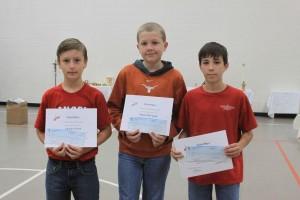3 winners