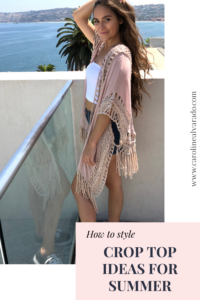 The best cute crop top styling ideas, how to style crop tops for summer, casual style outfit ideas, summer looks, affordable summer style, #ootd www.carolinealvarado.com