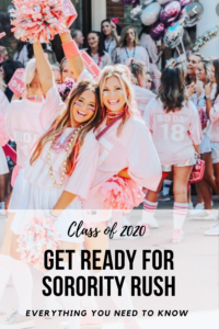 Comprehensive  GUIDE TO SORORITY RUSH 2020 that is literally everything you need to know.   I'm super excited about how cute it turned out, and how organized and how packed with tips, templates, and resources this guide is.  I've made sure it's  EVERYTHING you need to have successful sorority recruitment, including what to do, when to do it, what to wear, what they will ask, what the sororities are looking for, how to create your sorority packet, templates for your social resume & cover letter, how to find rec writers,  how to organize all those rec requests, comprehensive outfit guides for ideas of what to wear each day of recruitment, things to avoid, checklists, social media tips, and MUCh more.  Right now it's only $29 - it's honestly a steal:).   Perfect if you don't have your sorority packets done yet or if you need any tips and guidance  #sororityrush #classof2020 #sororityrecruitment #gogreek #sororitysisters