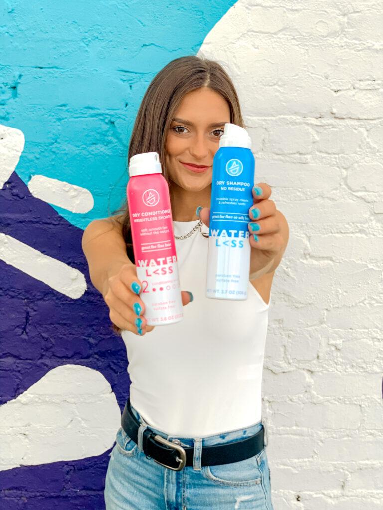 Caroline Alvarado - great hair with waterless hair care dry shampoo