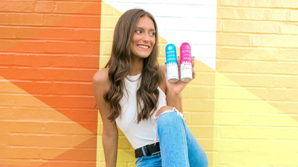 Caroline Alvarado - great hair dyas with Waterless Hair Care dry shampoo