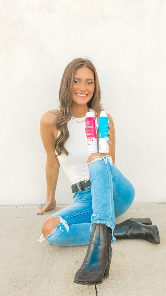 Caroline Alvarado - great hair with Waterless No Residue Dry Shampoo