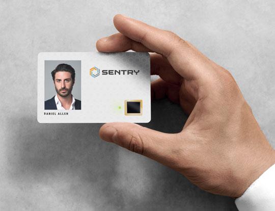 Introducing the<br> biometric SentryCard™