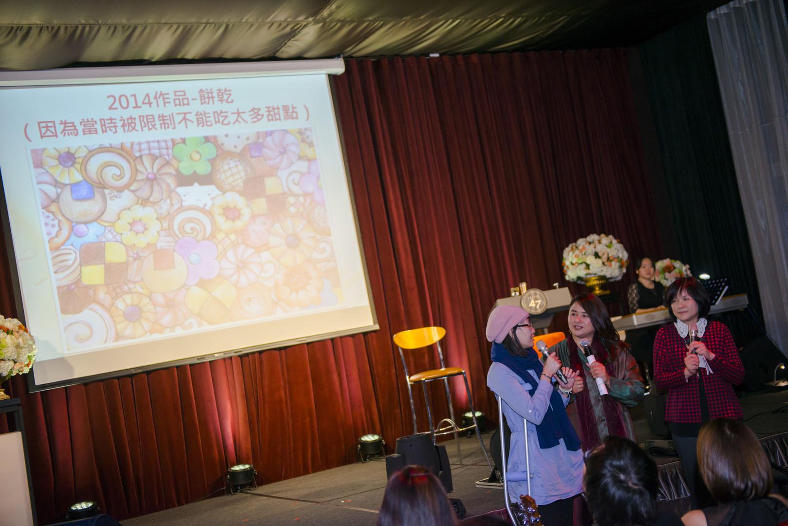 抗癌美少女畫家-阿布,以及北榮的沈護理長,特別來到演唱會現場跟大家說謝謝