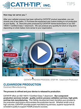 Catheter Tipping Hole Machines & Clean Room Production