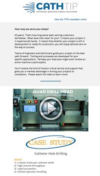 catheter drilling holes video newsletter