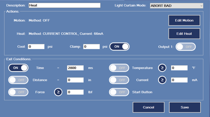 Catheter Tipping Machines user interface
