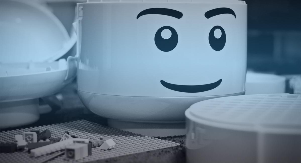 lego head block white