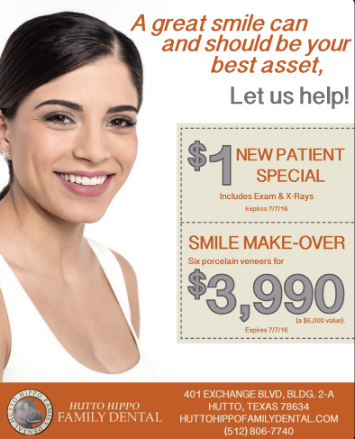 New Patient coupon for dentist in hutto TX