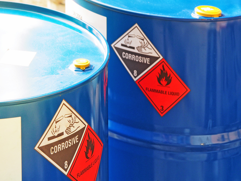 DRUMMED CHEMICAL WASTE