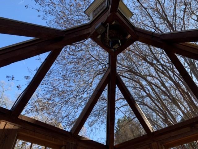 Roof made of windows