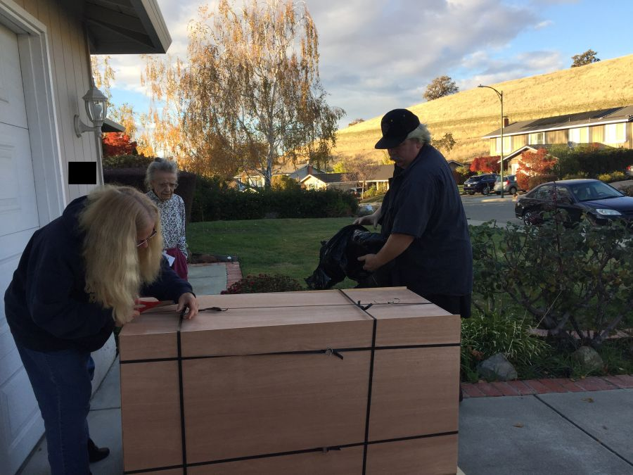 Hope Chest On Pallet without cover