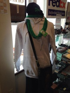 ISC Store Mannequin with Shamrock Winter Cap