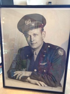 Image of soldier from WWII who flew B-17's - packed and shipped to Las Vegas