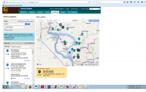 ISC on UPS Website Locator