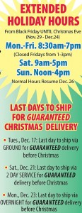 ISC_Extended hours and Last Days to Ship 2013