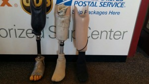 PROSTHETIC LEGS - PACKED AND SHIPPED FOR VETERANS