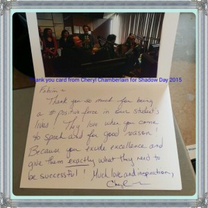 Shadow Day 2015 Thank You Card