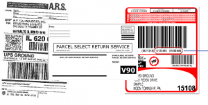 Sample Return Labels from FedEx UPS and USPS