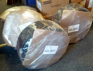 Island Ship Center recently safely packed & shipped these auto tires.