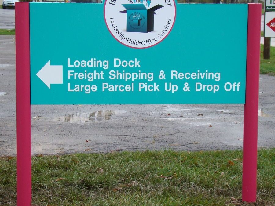 Our New Signs Are Up Outside The Store – Large Shipments To The Back Of The Building Please