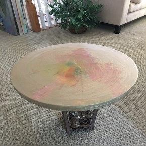custom painted tabletop