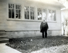 George Curwen and his sleeping porch (1931)