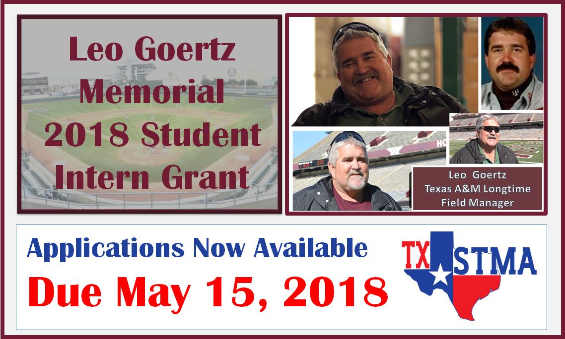 2018 Leo Goertz Turfgrass Student Intern Grant
