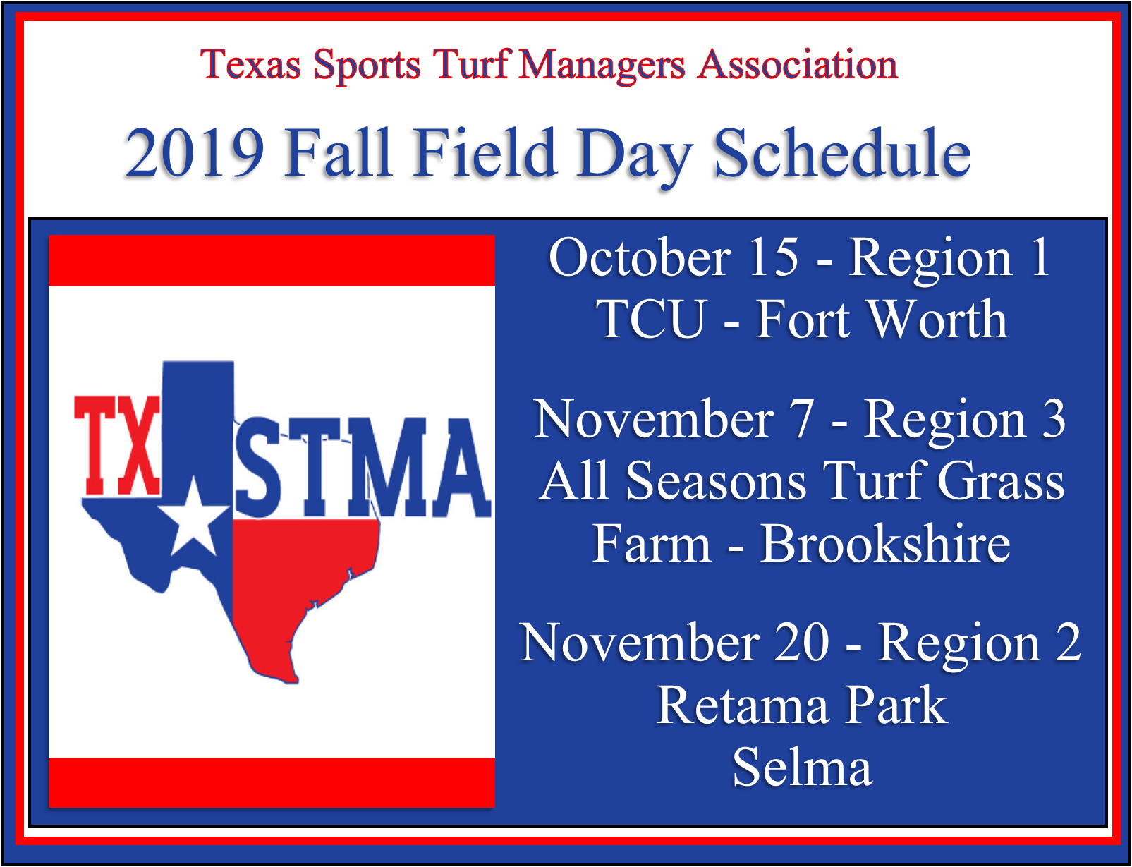 Fall Field Day Schedule