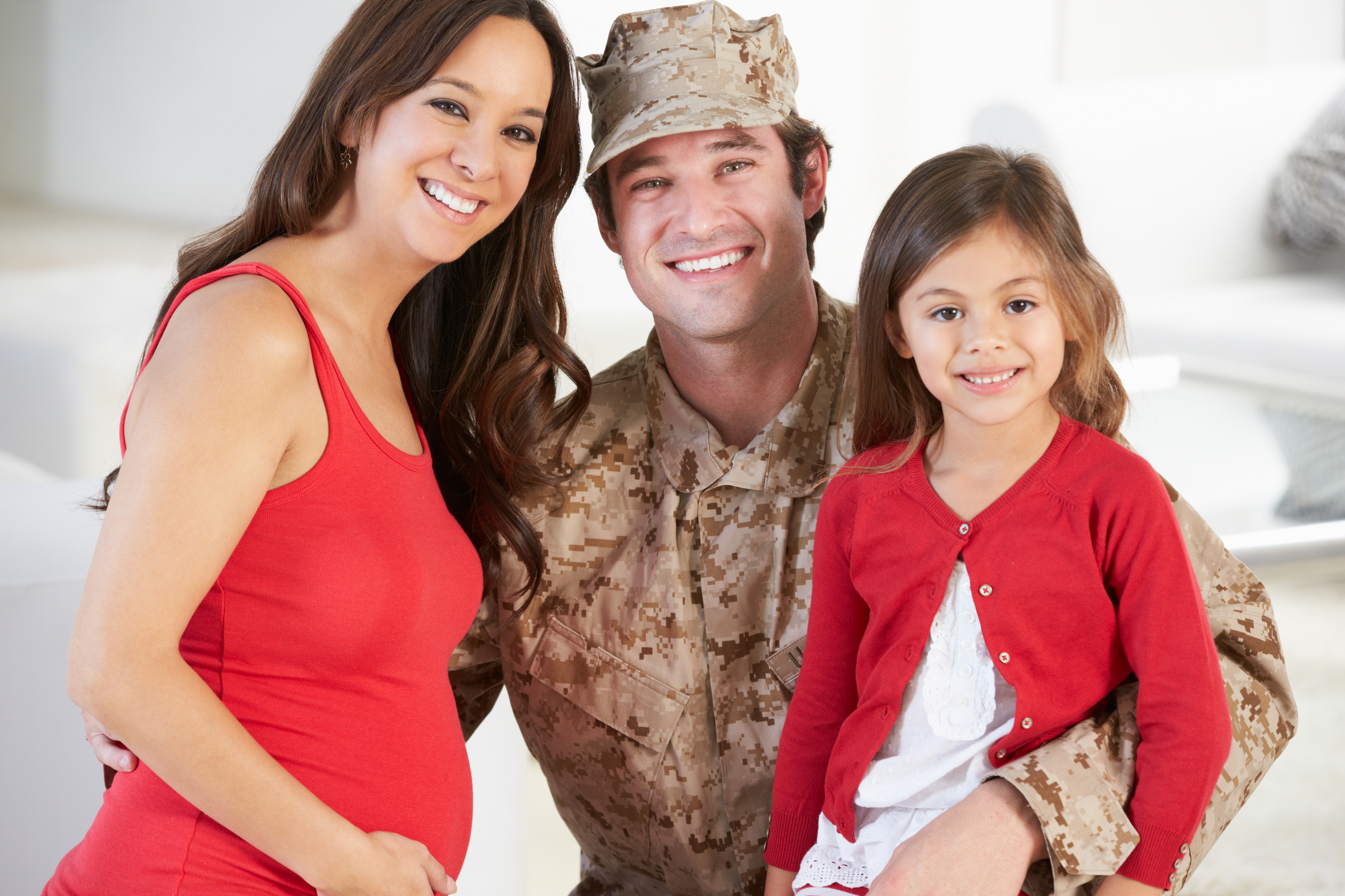 Happy military family