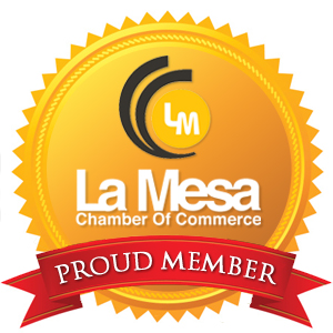La Mesa Chamber Virtual Plaque - Red