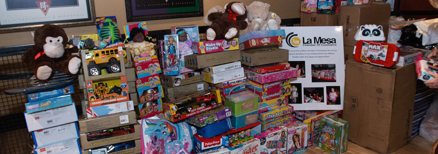 "La Mesa Chamber Members Give the Phrase ""There's No Place Like Home for the Holidays"" New Meaning by Collecting Toys for La Mesa Military Families"