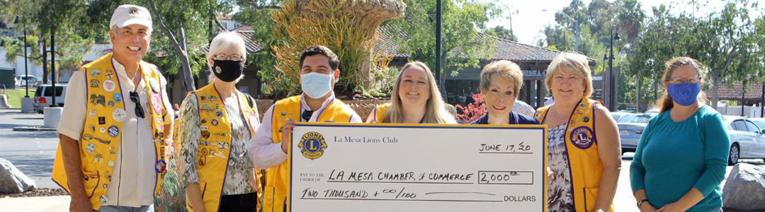 Local Checks are Donated to Assist Local Businesses – New Fund Named the La Mesa Business Assistance Fund