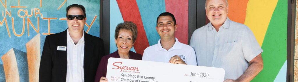 Sycuan Check Presentation to the La Mesa Disaster Recovery Fund