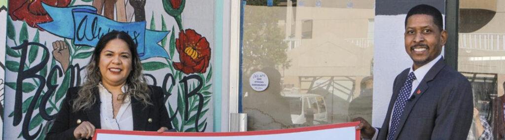 Union Bank Check Presentation to Nadia Zamora, Pink Rose Cafe